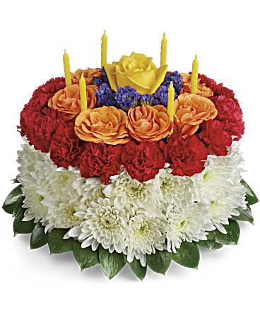 On Accorde Votre Souhait Le Gâteau D Anniversaire Bouquet