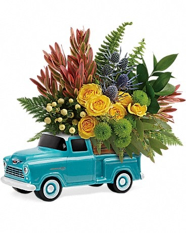 Bouquet Camionnette Chevy intemporelle de Teleflora